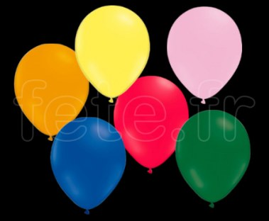 100 Ballons - Latex - Unis - Mat - Ø30cm -ASSORTIS