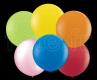 10 BALLONS - Latex - Unis - Mat - Ø40cm ASSORTIS