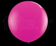 Ballon - Latex - Unis - Mat - Ø60cm FUSHIA