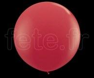Ballon - Latex - Unis - Mat - Ø60cm ROUGE