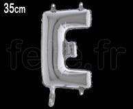 Ballon - Lettre - Métal - Argent - H35cm E