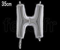 Ballon - Lettre - Métal - Argent - H35cm H
