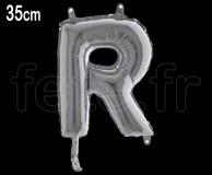 Ballon - Lettre - Métal - Argent - H35cm R