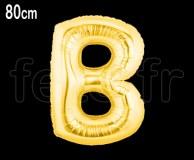 Ballon - Mylar_Or - Lettre - H 80cm B