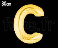Ballon - Mylar_Or - Lettre - H 80cm C