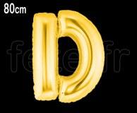 Ballon - Mylar_Or - Lettre - H 80cm D
