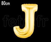 Ballon - Mylar_Or - Lettre - H 80cm J