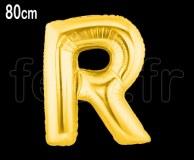 Ballon - Mylar_Or - Lettre - H 80cm R