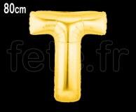 Ballon - Mylar_Or - Lettre - H 80cm T
