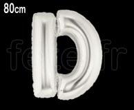 Ballon - Mylar_Argent - Lettre - H 80cm D