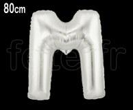 Ballon - Mylar_Argent - Lettre - H 80cm M