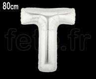 Ballon - Mylar_Argent - Lettre - H 80cm T