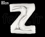 Ballon - Mylar_Argent - Lettre - H 80cm Z