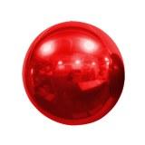 Ballon - Mylar - Sphérique - Miroir - Uni - Ø 40cm ROUGE