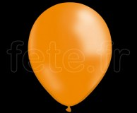 50 BALLONS - Latex - Unis - NACRE - Ø30cm ORANGE