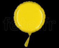 Ballon - Mylar - Rond - Brillant - Uni - 20cm CITRON