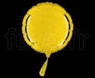 Ballon - Mylar - Rond - Brillant - Uni - 20cm JAUNE