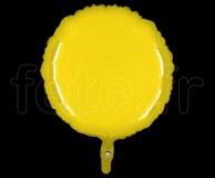 Ballon - Mylar - Rond - Brillant - Uni - 45cm CITRON