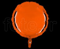 Ballon - Mylar - Rond - Brillant - Uni - 45cm ORANGE