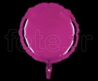 Ballon - Mylar - Rond - Brillant - Uni - 45cm POURPRE