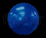 Ballon - Mylar - Rond - Brillant - Uni - Ø 75cm BLEU