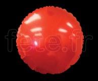 Ballon - Mylar - Rond - Brillant - Uni - Ø 75cm ROUGE