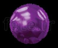 Ballon - Mylar - Rond - Brillant - Uni - Ø 75cm VIOLET