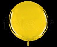 Ballon - Mylar - Rond - Brillant - Uni - 90cm JAUNE