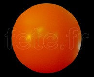 BALLON - CAPTIF - VINYLE (PVC) - Unis - SPHERE - ø 2m ORANGE