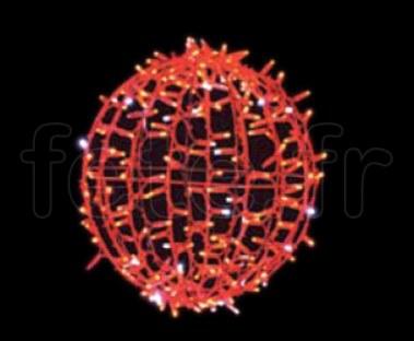 BOULES DECO - D=45cm- 200 LED Fixes - 50 Flash - 200V - 23w -