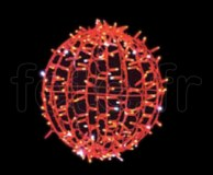 BOULES DECO - D=45cm - 200 LED Fixes - 50 Flash - 200V - 23w - ROUGE