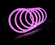 100 Bracelets - Fluo - Unicolore - Tige - 20cm X 5mm - ROSE