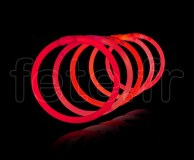 100 Bracelets - Fluo - Unicolore - Tige - 20cm X 5mm - ROUGE