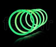 100 Bracelets - Fluo - Unicolore - Tige - 20cm X 5mm - VERT