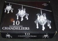 Guirlande de 10 Chandeliers Suspendus - Longueur 4m - 220V