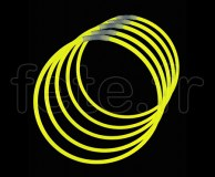 50 COLLIERS - FLUO - Unicolore - 56cm X 5mm - JAUNE