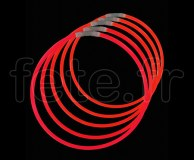 50 COLLIERS - FLUO - Unicolore - 56cm X 5mm - ROUGE