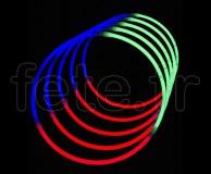50 COLLIERS - FLUO - Tri-Colore - 56cm X 5mm - TRICOLORE