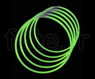 50 COLLIERS - FLUO - Unicolore - 56cm X 5mm - VERT