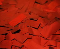 Confettis - Scene - Rectangle - Metal - Ø 55mm - ROUGE