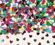 Confettis - Table - Coeur - Ø 6mm - 14g ASSORTIS