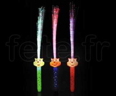 FOUET - Fibre Optique - LED - Rainbow - Piles Fournies