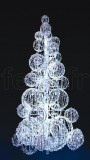SAPIN_SPHERE - H=5m - D=2m40 - LED Blanc/Neige Fixes - 810_W - 24_V